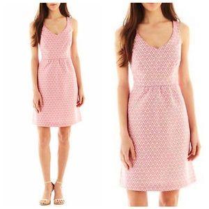I Heart Ronson Pink White Sleeveless Keyhole Dress